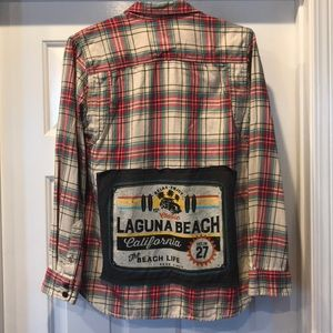 Laguna Beach Vans flannel shirt Upcycled large